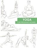 Yoga per le donne incinte Fotografie Stock