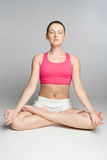 Yoga Person Royalty Free Stock Photography