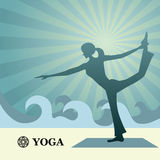 Yoga and pilates background Stock Photography
