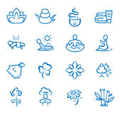 Yoga, pilates big set of vector symbols Royalty Free Stock Photo