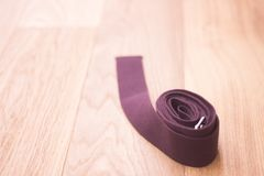 Yoga pilates studio strap. Yoga pilates and body & mind studio gym fitness room and belt strap for group classes Stock Images