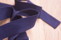 Yoga pilates studio strap. Yoga pilates and body & mind studio gym fitness room and belt strap for group classes Stock Photos