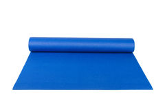 Yoga Pilates or Fitness Mat for Exercise Stock Image