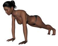 Yoga - Plank Pose Stock Photo
