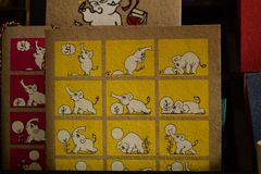 Yoga por el elefante Imagen de archivo libre de regalías