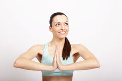 Yoga portrait Stock Image