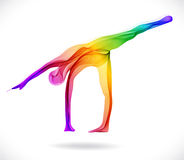 Yoga pose, Abstract color illustration Royalty Free Stock Photography