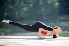 Yoga pose Dedicated to the Sage Koundinya II Stock Photo