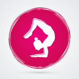 Yoga. Pose designed on grunge cycle background graphic vector Stock Photos