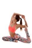 Yoga pose eka pada radjakapotasana Stock Images