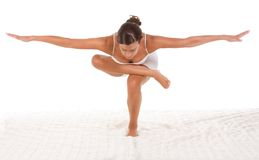Yoga pose - female performing exercise Royalty Free Stock Photos