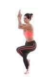 Yoga Pose garudasana Royalty Free Stock Photography