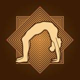 Yoga pose graphic Stock Photos