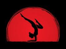 Yoga pose graphic Stock Photography