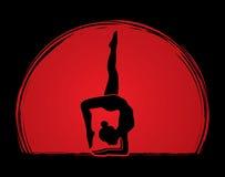 Yoga pose graphic Royalty Free Stock Photos