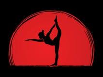 Yoga pose graphic Stock Image
