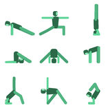 Yoga pose icon set. Vector illustration. Yoga pose icon set. Collection of asanas.Vector illustration Stock Photography
