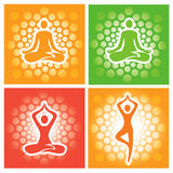Yoga pose icons. Royalty Free Stock Images