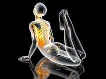 Yoga Pose - King Cobra Royalty Free Stock Photography