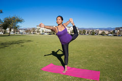 Yoga Pose - King Dancer Pose Stock Photo