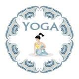 Yoga pose  logo Stock Images