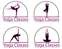Yoga pose logo Stock Photos