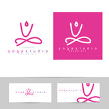 Yoga pose logo Royalty Free Stock Photos