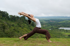 Yoga Pose Outdoors Stock Photos