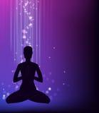 Yoga pose - padmasana. Royalty Free Stock Images