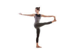 Yoga pose parivritta hasta padangushthasana Royalty Free Stock Photos