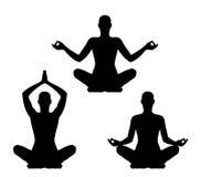 Yoga pose set Stock Image