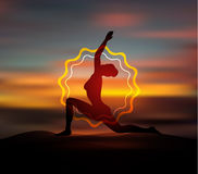 Yoga pose silhouette Stock Images