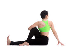 Yoga pose for spine, hips and shoulders Stock Image