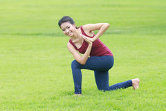 Yoga Pose and Stretch Stock Image