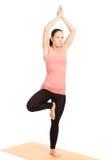 Yoga pose in studio Stock Images