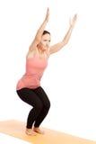 Yoga pose in studio Royalty Free Stock Photography