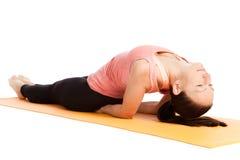 Yoga pose in studio Stock Photography