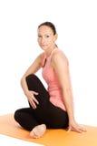 Yoga pose in studio Stock Photos