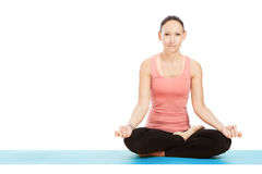 Yoga pose in studio Stock Photo