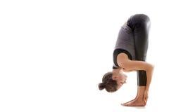Yoga pose uttanasana Stock Photo