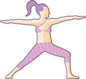 Yoga pose vector Stock Images