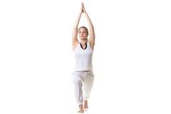 Yoga Pose Warrior 1 Stock Image