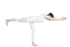 Yoga Pose Warrior 3 Royalty Free Stock Image