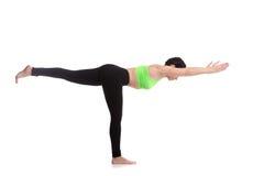 Yoga Pose Warrior 3 Stock Photos
