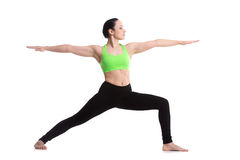 Yoga Pose Warrior 2 Royalty Free Stock Photos