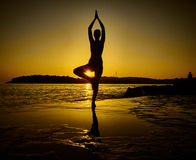 Yoga pose Stock Images