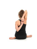 Yoga pose by young woman Stock Photos