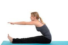 Yoga pose by young woman Stock Photography