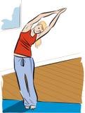 Yoga pose. Young woman doing a yoga pose Stock Photos