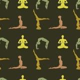 Yoga poserar bakgrund Arkivfoto